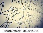 complex math formulas on... | Shutterstock . vector #360046811