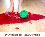 child sweet tooth dropped a jar ... | Shutterstock . vector #360049565