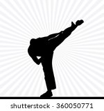 karate silhouette background | Shutterstock .eps vector #360050771