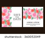 invitation with floral... | Shutterstock . vector #360052049