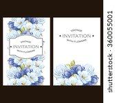 vintage delicate invitation...   Shutterstock . vector #360055001