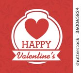 happy valentines day design    Shutterstock .eps vector #360065834