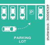 top view parking lot design.... | Shutterstock .eps vector #360069269