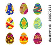 set of vector easter eggs | Shutterstock .eps vector #360070835