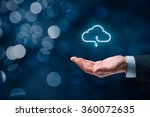 cloud computing concept  ... | Shutterstock . vector #360072635
