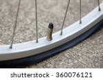 close up of flat tire   bicycle ... | Shutterstock . vector #360076121