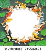 carps koi fish under water....   Shutterstock .eps vector #360083675