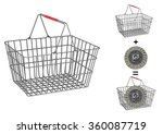 painted metallic basket on... | Shutterstock .eps vector #360087719