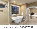 large furnished bathroom in... | Shutterstock . vector #360087857
