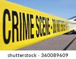 police line at crime scene | Shutterstock . vector #360089609