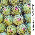 fresh artichokes for sale at a... | Shutterstock . vector #360093749