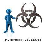 blue man character holding... | Shutterstock . vector #360123965