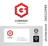 letter g   logo design element... | Shutterstock .eps vector #360123989