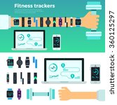 fitness concept. banners of... | Shutterstock .eps vector #360125297