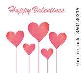 pink pastel watercolor heart on ... | Shutterstock .eps vector #360130319