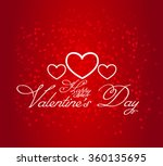 valentine's day greeting card... | Shutterstock .eps vector #360135695