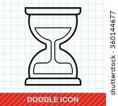 hourglass doodle   Shutterstock .eps vector #360144677