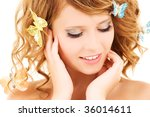 picture of teenage girl with... | Shutterstock . vector #36014611