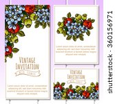 invitation with floral... | Shutterstock . vector #360156971