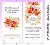 romantic invitation. wedding ... | Shutterstock . vector #360158381