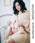 beauty pregnant woman ....   Shutterstock . vector #360163769