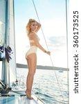 beautiful young sexy brunette... | Shutterstock . vector #360173525