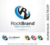 rockbrand letter r logo... | Shutterstock .eps vector #360178109