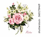 watercolor a bouquet of spring... | Shutterstock . vector #360178469