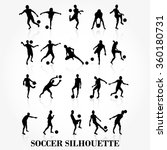 soccer player silhouette... | Shutterstock .eps vector #360180731