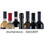 assorted bottles of wine on... | Shutterstock . vector #3601809
