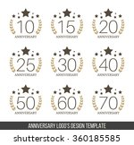 vector set of anniversary signs ... | Shutterstock .eps vector #360185585