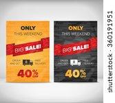 big sale discount flayer design   Shutterstock .eps vector #360191951