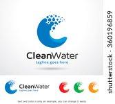 clean water letter c logo... | Shutterstock .eps vector #360196859