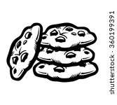 chocolate chip cookie | Shutterstock .eps vector #360199391