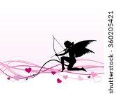 cupid   valentine's day banner  ... | Shutterstock .eps vector #360205421