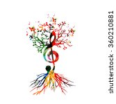 colorful background with music... | Shutterstock .eps vector #360210881