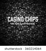 casino chips top view with... | Shutterstock .eps vector #360214064