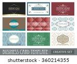 set of creative vintage... | Shutterstock .eps vector #360214355
