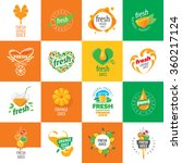 logo of fresh juice | Shutterstock .eps vector #360217124