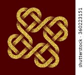 Golden Glittering Logo Templat...