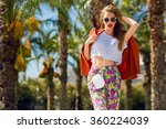 fashion outdoor portrait  of... | Shutterstock . vector #360224039