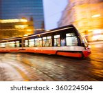 Modern Tram In Motion Blur ...
