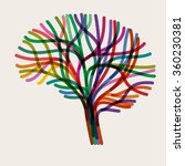 abstract concept of the brain ... | Shutterstock .eps vector #360230381