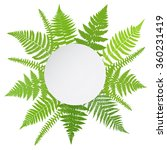 Jungle Poster. Fern Frond...