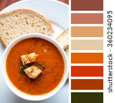 a bowl of fresh tomato soup ... | Shutterstock . vector #360234095