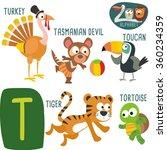 cute zoo alphabet in vector.t... | Shutterstock .eps vector #360234359
