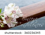 condolences text card with... | Shutterstock . vector #360236345