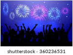 dancing people silhouettes. | Shutterstock .eps vector #360236531