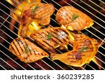 grilled chicken breast and... | Shutterstock . vector #360239285