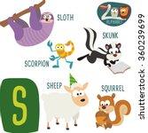 cute zoo alphabet in vector. s... | Shutterstock .eps vector #360239699